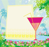 Einladung an Geburtstags-Cocktailparty lizenzfreie abbildung