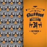 Einladung an Halloween-Party Stockbilder