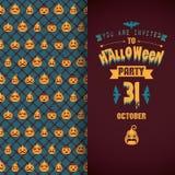 Einladung an Halloween-Party Lizenzfreies Stockfoto