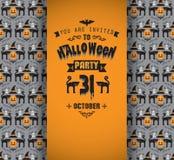 Einladung an Halloween-Party Lizenzfreie Stockfotografie