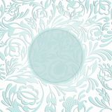 Einladung mit abstraktem Blumenhintergrund Stockbilder