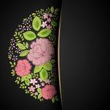 Einladung mit abstraktem Blumenhintergrund Lizenzfreie Stockfotografie