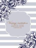 Einladung mit Blumenhintergrund stock abbildung