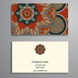 Einladung, Visitenkarte oder Fahne mit Textschablone Rundes Florida lizenzfreies stockfoto
