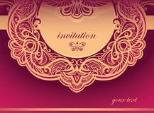 Einladung zu den purpurroten Tönen. Vektorhintergrund Lizenzfreie Stockfotografie