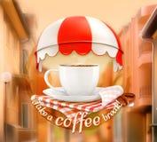 Einladung zu einem Tasse Kaffee vektor abbildung