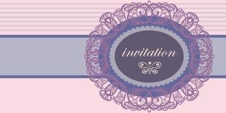 Einladung zu einer Hochzeit oder zu einem Jahrestag Lizenzfreie Stockfotografie