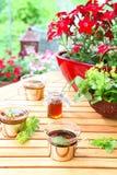 Einladung zum Tee stockbilder