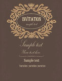 Einladung zur Hochzeit Stockbild