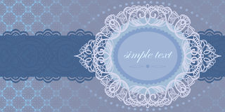 Einladung zur zart-blauen Farbe Lizenzfreie Stockfotos