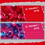 Einladungen für Valentinsgrußtagespartei Stockbild