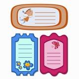 Mädchenblumenschmetterlings-Einladungsanmerkungen Lizenzfreie Stockfotos