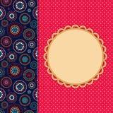 Einladungs-Karte mit abstraktem Muster-Dekorations-Fach. Stockbild