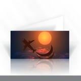Einladungs-Karten-Design, Schablone Stockbild