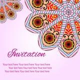 Einladungs-Mandalakarte Vektor Abbildung