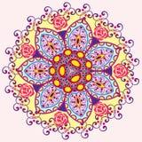 Einladungs-Mandalakarte Stockbild