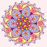 Einladungs-Mandalakarte Lizenzfreie Abbildung