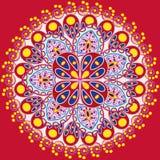 Einladungs-Mandalakarte Stockbilder