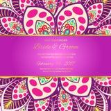 Einladungs-Mandalakarte Stock Abbildung
