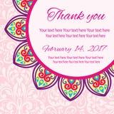 Einladungs-Mandalakarte Lizenzfreie Stockbilder