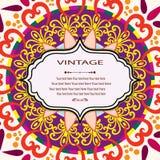 Einladungs-Mandalakarte Lizenzfreie Stockfotografie