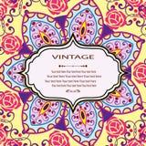 Einladungs-Mandalakarte Stockfoto