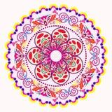Einladungs-Mandalakarte Lizenzfreies Stockfoto