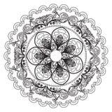 Einladungs-Mandalakarte Lizenzfreies Stockbild