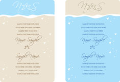 Einladungs-Panels Stockbild