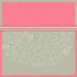 Einladungs-Karte mit weiße Blumen-Schattenbildern Lizenzfreie Stockfotos