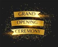 Einladungshintergrund der Zeremonie der festlichen Eröffnung goldener lizenzfreie abbildung