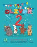 Einladungskarte für Geburtstagsfeier der Kind s vektor abbildung