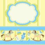 Einladungskarte für Schätzchen mit Spielwaren Lizenzfreie Stockbilder