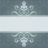 Elegante Einladungskarte mit Platte Lizenzfreie Stockfotos
