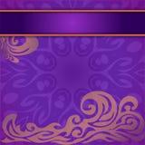 Einladungskarte mit abstraktem Weinlesemuster Stock Abbildung