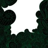 Einladungskarte mit abstrakter Welle Lizenzfreies Stockfoto
