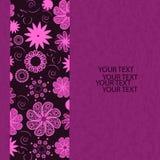 Einladungskarte mit Blume, Illustration Lizenzfreie Stockfotografie