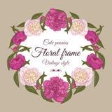 Einladungskarte mit Blumen Lizenzfreie Stockfotos