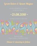 Einladungskarte mit Blumenschablone Lizenzfreie Stockfotografie