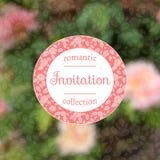 Einladungskarte mit rosafarbenen Rosen ENV, JPG Lizenzfreie Stockbilder