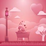 Einladungskarte Valentinsgrußtageshintergrund Stockbilder