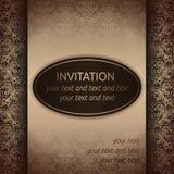Einladungskartenschablone in im altem Stil stock abbildung