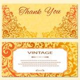 Einladungskartenweinlese Stock Abbildung