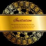 Einladungskartenweinlese Lizenzfreie Abbildung