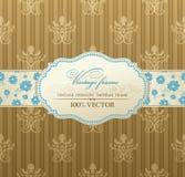 Einladungsweinlese-Kennsatzfeld Lizenzfreies Stockfoto