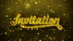 Einladungswunsch-Grußkarte, Einladung, Feierfeuerwerk lizenzfreie abbildung