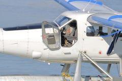 Einmotoriges Cockpit stockbild