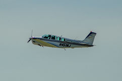 Einmotoriges Flugzeug Beechcraft Lizenzfreies Stockbild