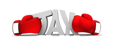 Einpacken der Steuer Lizenzfreies Stockbild
