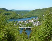 Einruhr en el Eifel - la Alemania Fotos de archivo libres de regalías